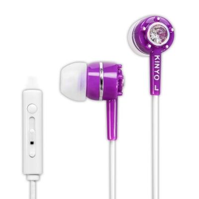 KINYO智慧型手機耳麥IPEM622-浪漫紫