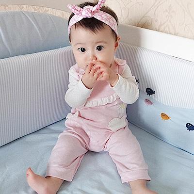 Baby unicorn 粉紅愛心小兔長袖包屁衣套裝2件組