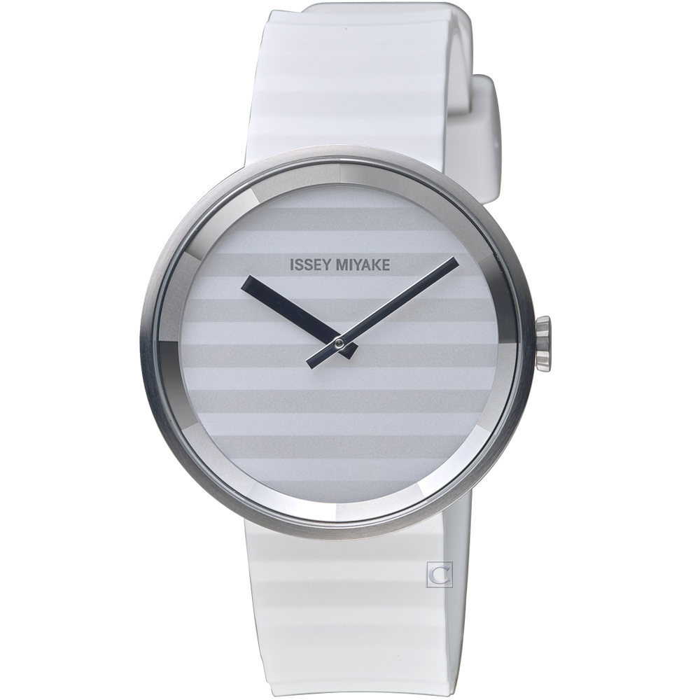 ISSEY MIYAKE三宅一生PLEASE系列波紋概念腕錶( VJ20-0110W)