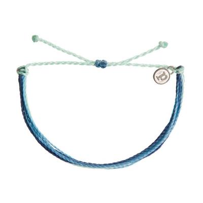 Pura Vida 美國手工 INDIGO DAZE  灰藍色系可調式手鍊衝浪海灘防水手繩