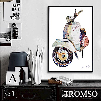 TROMSO北歐時代風尚有框畫-奇幻偉士牌40X60CM