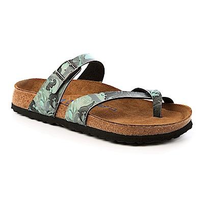 勃肯papillio1007107。MAYARI馬亞里夾腳拖鞋(花卉灰藍)