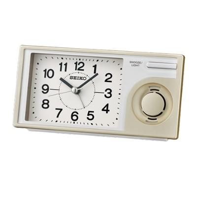 SEIKO 日本精工 滑動式秒針 音樂鬧鐘(QHP004S)-金/7.5X14.9cm