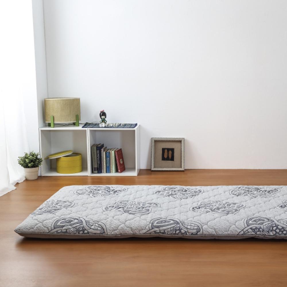 莫菲思 禪繞花紋單人折疊床墊