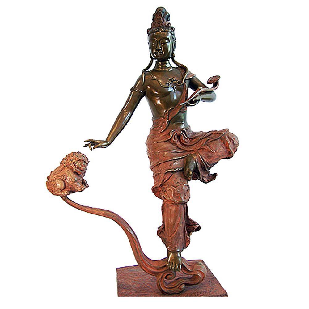林韋龍 限量原作銅雕 華嚴三聖 文殊菩薩 (大智文殊菩薩)
