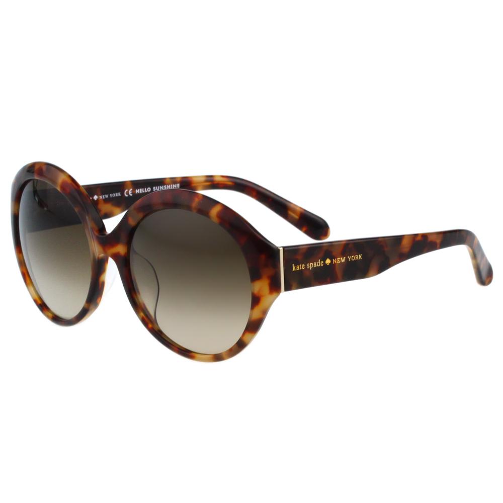 Kate Spade-簡約復古 太陽眼鏡(琥珀色)