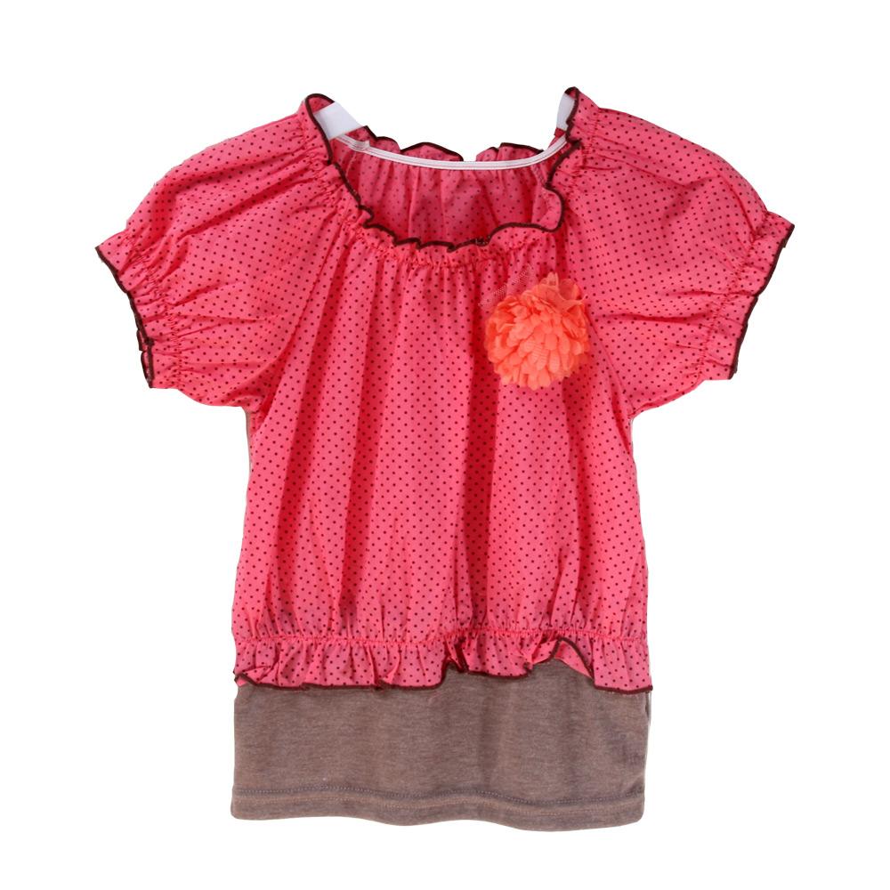 魔法Baby 台灣製造女童花朵短袖上衣 k33328