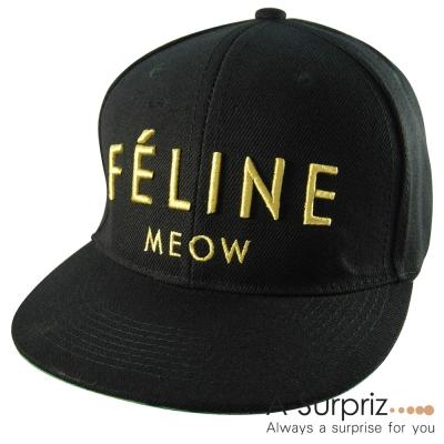 A-Surpriz 潮系字母FELINE棒球帽(酷性黑)