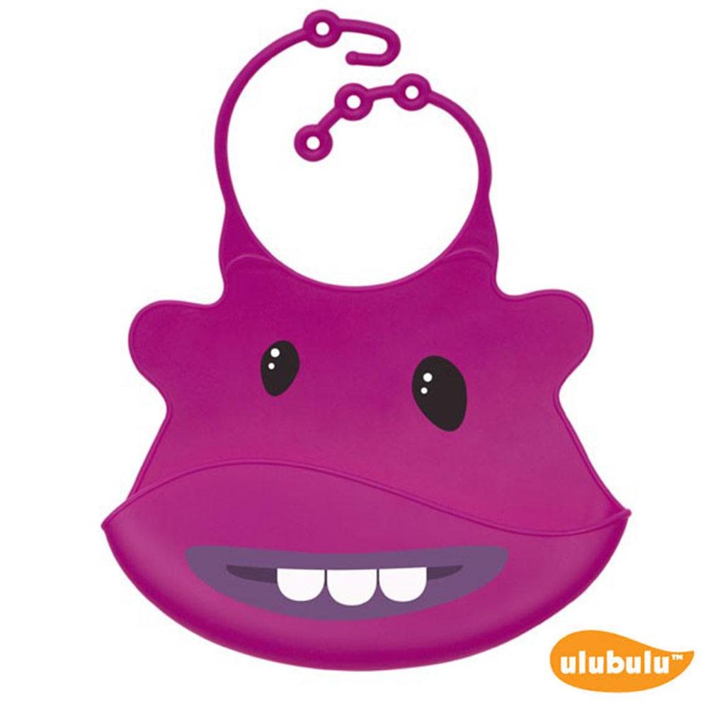ulubulu 紫色怪獸款 矽膠立體圍兜