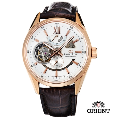 ORIENT STAR 東方之星 OPEN HEART系列 鏤空機械錶-白色/41mm