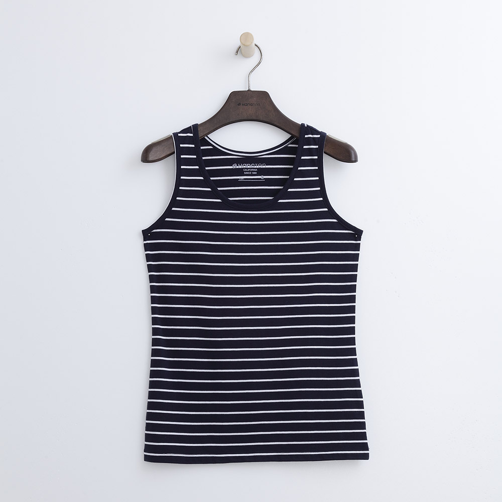Hang Ten - 女裝 - 基本條紋背心-深藍色