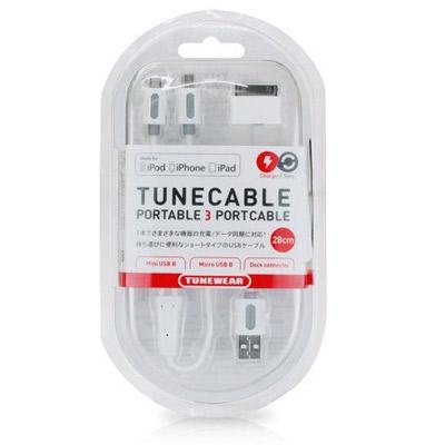 TUNEWEAR TUNECABLE 30Pin/mini/micro USB 充電傳輸線