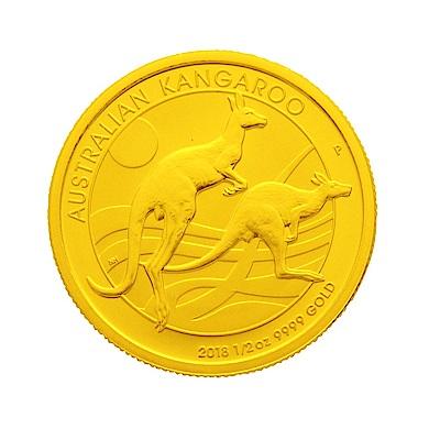 2018年澳洲袋鼠金幣-1/2盎司(OZ)