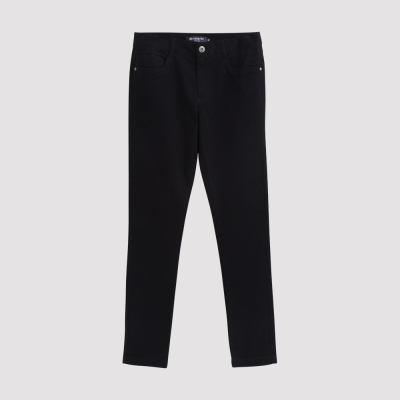Hang Ten - 男裝 - 純色斜紋高彈窄管褲 - 黑