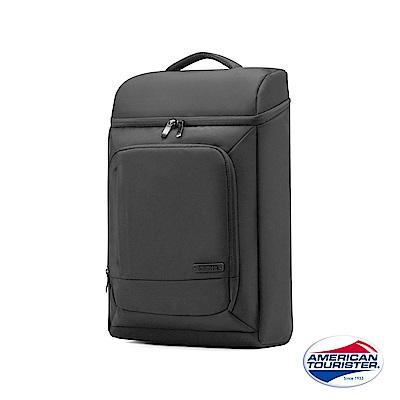 AT美國旅行者 Scholar簡約都會筆電上掀蓋筆電後背包14黑