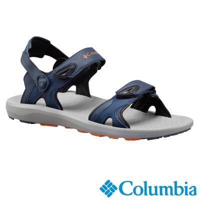 【Columbia哥倫比亞】男-涼鞋-藍色 可變身拖鞋 UBM45140BL
