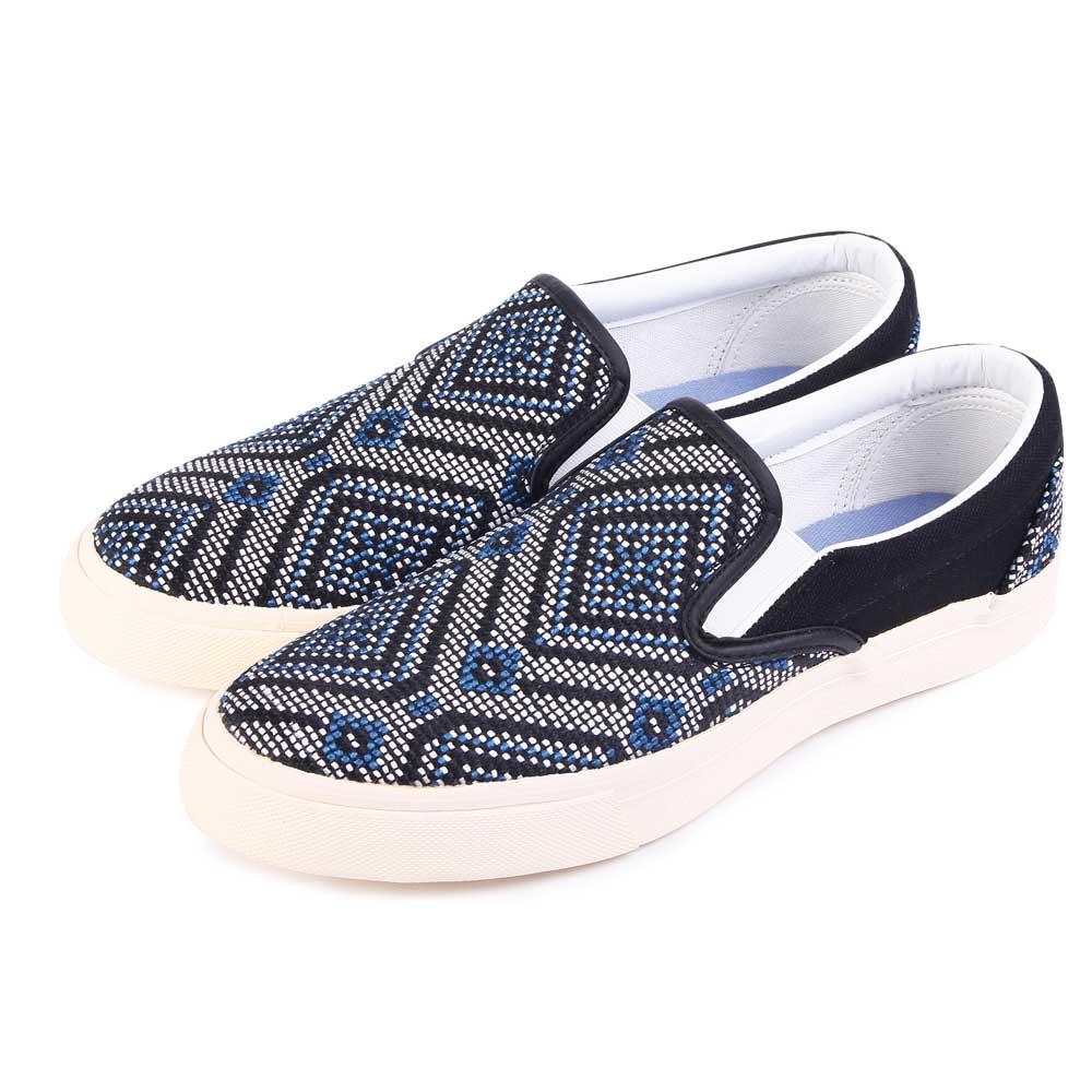 TTSNAP樂福鞋-MIT圖騰編織懶人鞋 藍
