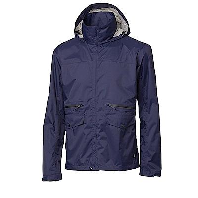 【HAKERS】男-Explore 超輕量2.5L背包式防水外套-暮光藍