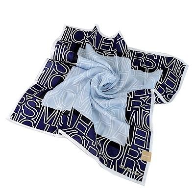 MICHAEL KORS大字母撞色帕巾-小/藍紫