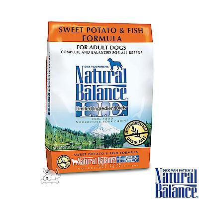 Natural Balance 低敏系列 無榖地瓜鮭魚 全犬糧 原顆粒 4.5磅 x 1包