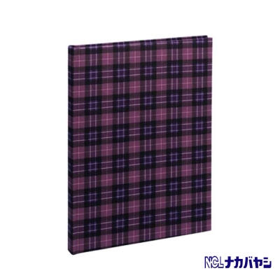 日本 Nakabayashi 自黏相本 麻布系列 格紋相本(紫)