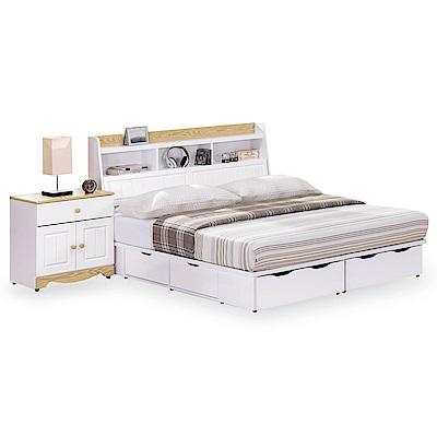 時尚屋 喬納森烤白5尺雙人六抽床底(不含床頭櫃-床墊-床頭箱)
