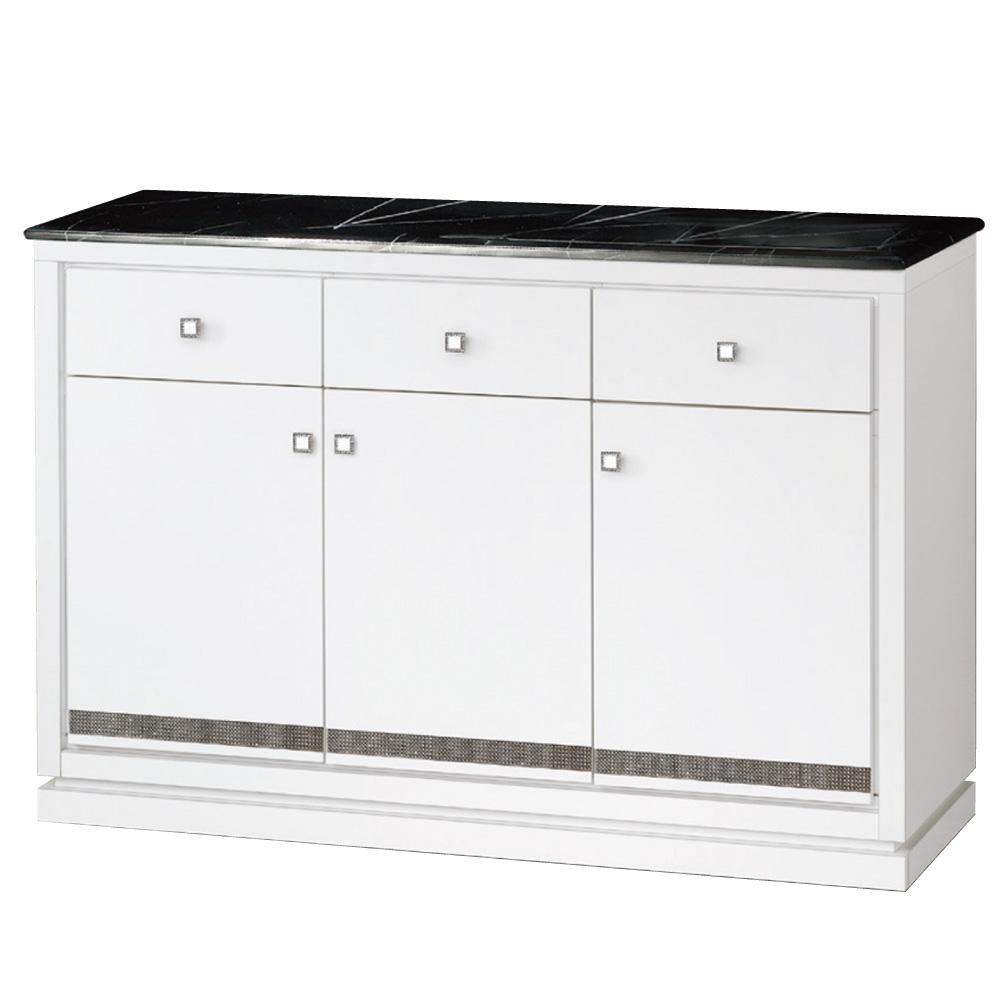 品家居 維雅娜4尺石面餐櫃下座-121x41x86cm-免組