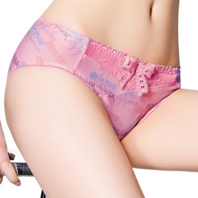 思薇爾-都繪感系列蝴蝶結M-XXL中腰內褲-奶莓粉
