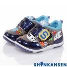 ShinKanSen新幹線 輕量減壓抗菌防臭防滑休閒童鞋-藍色