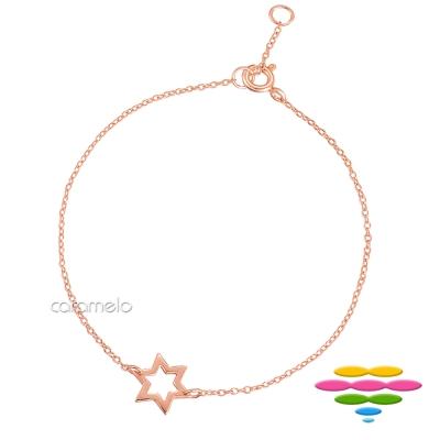 彩糖鑽工坊 星星手鍊 銀鍍玫瑰金手鍊 桃樂絲 Doris系列