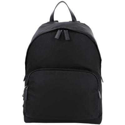 PRADA-前袋設計尼龍後背包-黑色