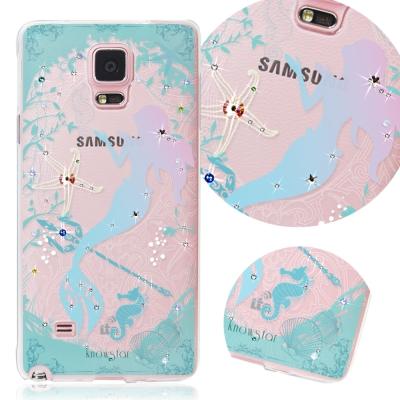 KnowStar 三星 Galaxy Note4 奧地利水晶彩繪手機鑽殼-美人魚