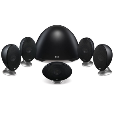 英國 KEF E305 5.1衛星喇叭家庭劇院黑色組