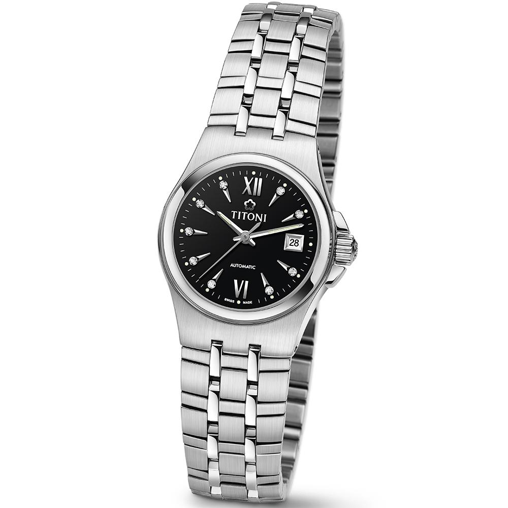 TITONI瑞士梅花錶 動力系列(23730 S-515)-黑色/22mm