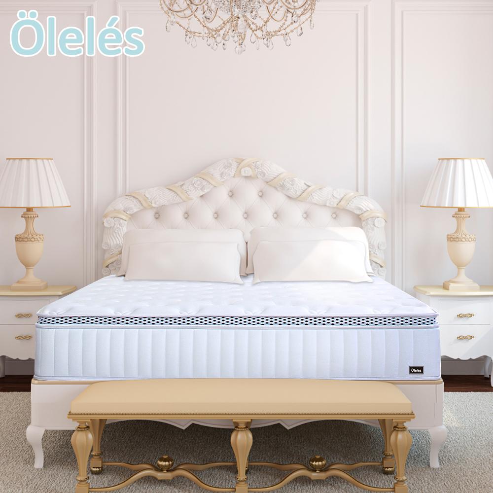 Oleles 歐萊絲 黑標乳膠獨立筒 彈簧床墊-雙人加大