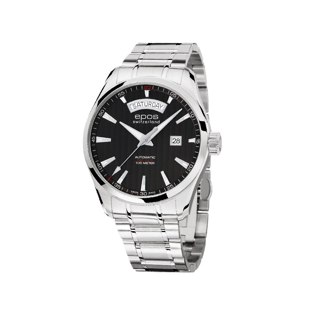 epos 經典Day-Date復刻機械腕錶-黑/43mm