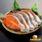 極鮮配 日式薄鹽鮭魚 (300g±10%1袋4~5片)-3袋