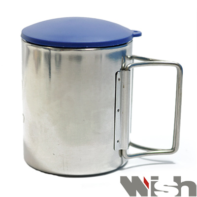 迪伯特DIBOTE 攜帶式不鏽鋼露營杯/野營杯(小)