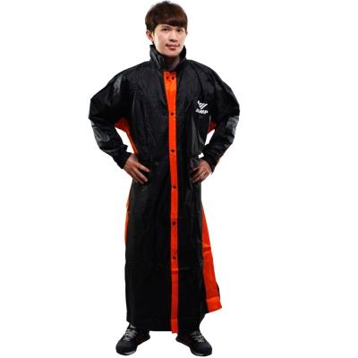 新二代 JUMP優帥前開式休閒風雨衣-黑橘
