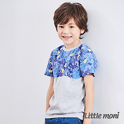 Little moni 夏日叢林印圖棉T (2色可選)