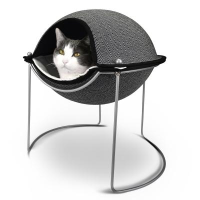 HEPPER 獨享空間貝殼貓窩-黑白斜紋