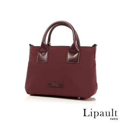 法國時尚Lipault 輕量手提斜背包S(深酒紅)