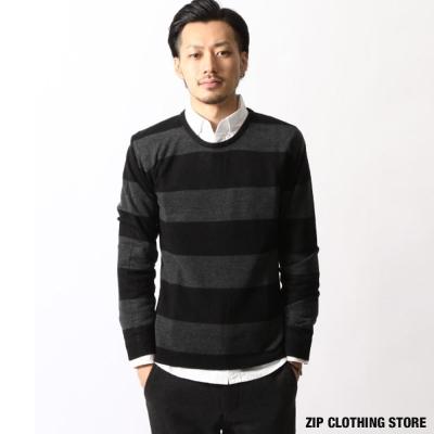 圓領針織毛衣 ZIP日本男裝