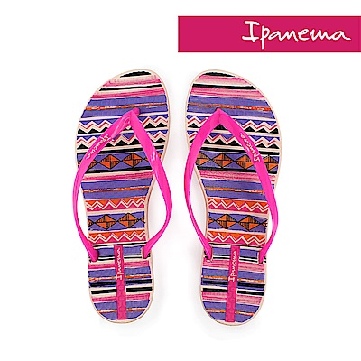 IPANEMA 舞動條紋夾腳拖鞋-粉色