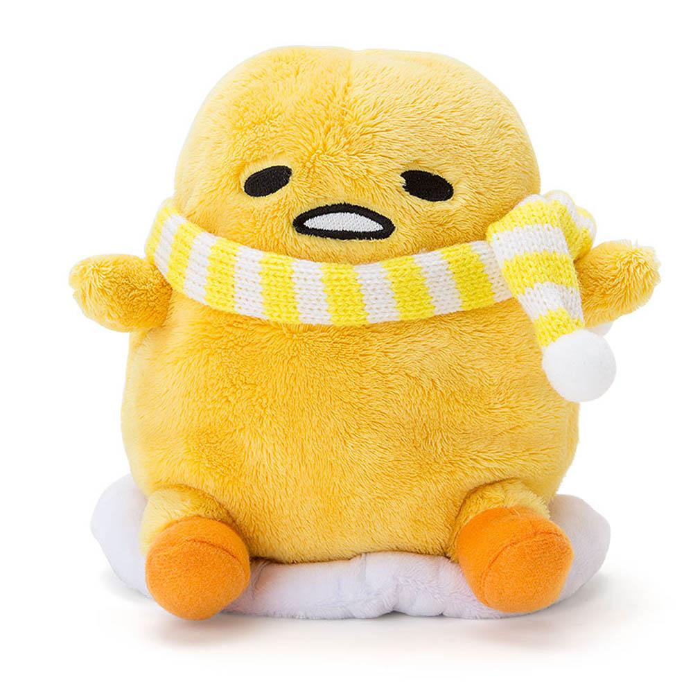 Sanrio 蛋黃哥動感迴聲絨毛玩偶(條紋圍巾版)