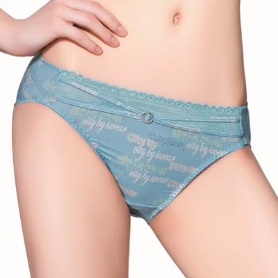 思薇爾-都繪感系列亮鑽M-XL低腰內褲-灰晶藍