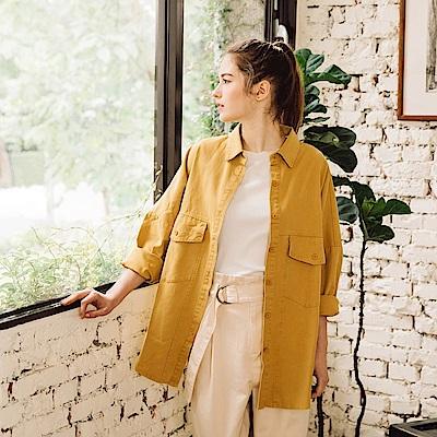 CACO-厚斜紋襯衫式外套(四色)-女【PSH044】