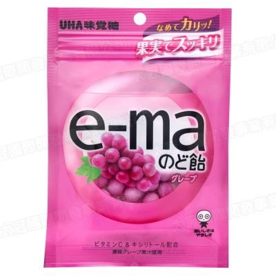 UHA味覺糖 e-ma葡萄喉糖-袋裝(50g)