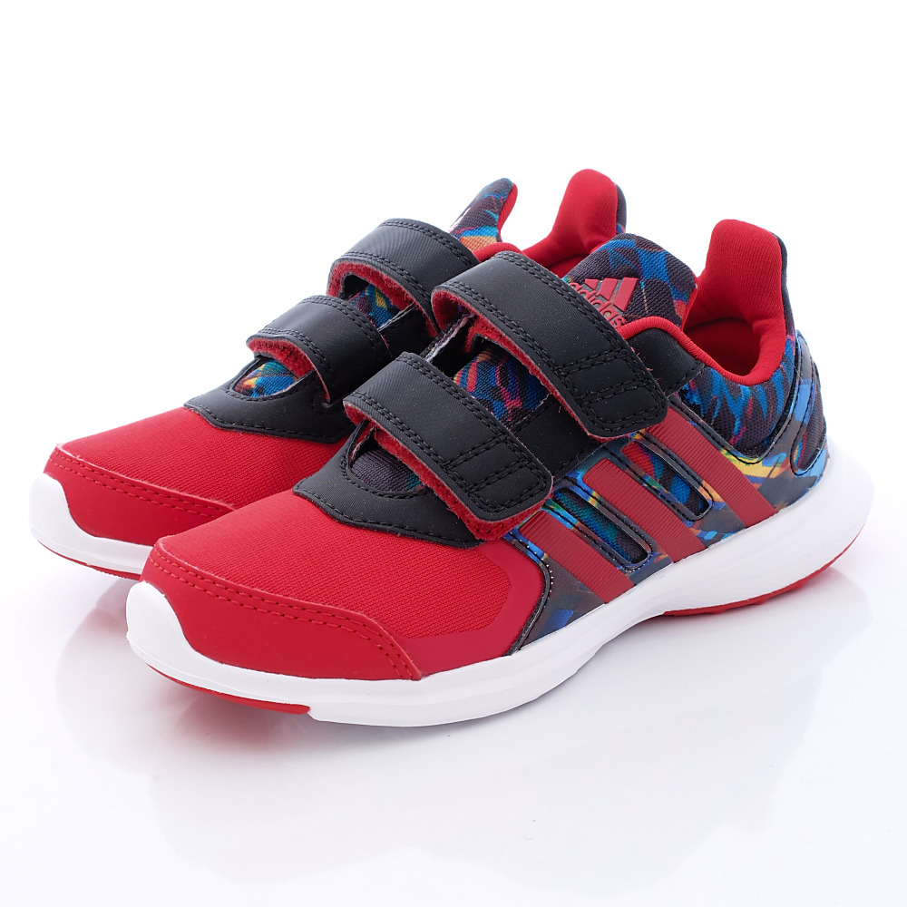 adidas童鞋-經典慢跑款-QTH869紅黑(小童段)HN