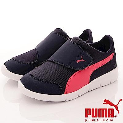 PUMA童鞋 簡約輕量慢跑款 ON90942-03 藍桃 (中小童段)